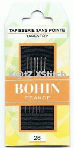 Pack of 6x Size 26 Bohin Tapestry Needles
